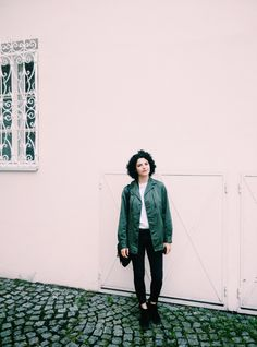 on the go in Salzburg with the Upcycling Military Jacket from Paris