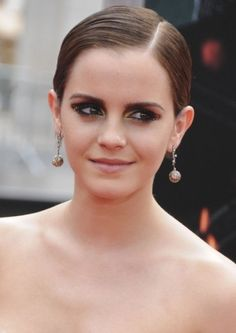 Emma Watson Slick Gelled Look