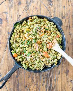 The Anti-Aging Kale Pesto Pasta Salad | One Ingredient Chef