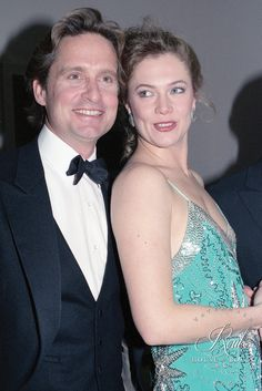 Michael Douglas & Kathleen Turner (by Peter Warrack) - Limited Edition, Archival Print
