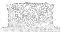 Crochet Knitting Handicraft: jacket for girls Filet Crochet, T-shirt Au Crochet, Beau Crochet, Pull Crochet, Mode Crochet, Crochet Motifs, Crochet Shirt, Crochet Collar, Crochet Diagram