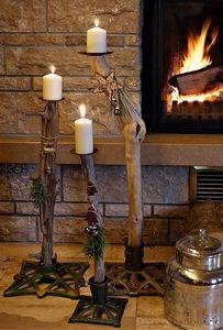 Christbaumständer + Schwemmholz = Kerzenständer