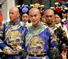 "Qing prince reenactors in the production, ""The Dispute for the Throne"".  Kevin Cheng, Nicky Wu and others in the shot"