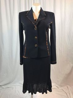 #forsale #STJOHNKnits Collection Black/Gold Suit 3 Pieces #instashopping #cybermonday #shopaholic #deals #me #eBay http://www.ebay.com/itm/172928097819