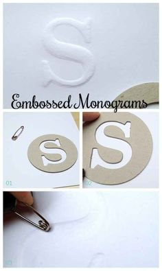Professional-looking embossed monograms.