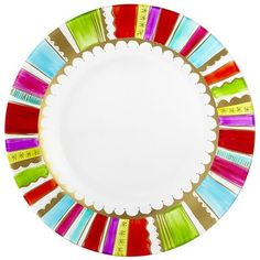 Festive Stripes Salad Plate Pier 1  $9.95