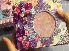 Fairy Flora Mini Album w/ Matching Box (WARNING- Lots of Sparkles! LOL!)