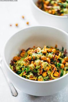 Rainbow Power Salad With Roasted Chickpeas | Pinch Of Yum