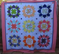 Happy go Lucky Swoon quilt top  Rose & Dahlia