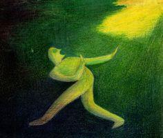 Farbstiftzeichnung von Sisi Bolliger, 1916-2010. Sie hat ihre Arbeiten nie publiziert oder ausgestellt. Die kleinen Farbstiftzeichnungen sind zu sehen auf www.aussenseiterk...