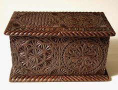 Frisian chip carved household items are sacred geometry in wood. Interlacing infinity circles, hexagonal blossoms, flower-of-life matrices.
