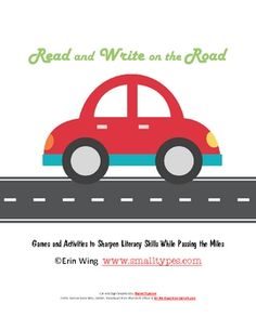 """FREE!!  """"Read and Write on the Road""""  Home Literacy Practice Pack.... very cute!!"""