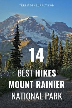 14 Jaw Dropping Hikes in Mount Rainier National Park - - Our resident expert on the Pacific Northwest breaks down the best hikes at Mount Rainier National Park, including the epic Wonderland Trail. Mt Rainier National Park, Yellowstone National Park, North Cascades National Park, Washington Nationals Park, Washington State, Washington Hiking, Us National Parks, Best Hikes, Sierra Nevada