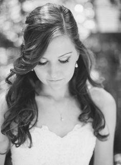 Bridal hair down