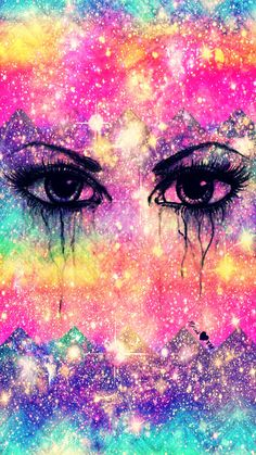 Chevron Eyes Galaxy Wallpaper #androidwallpaper #iphonewallpaper #wallpaper #galaxy #sparkle #glitter #lockscreen #pretty #pink #cute #girly #pattern #rainbow #chevron #art #colorful
