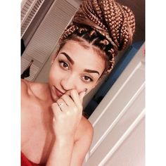 I LOVE Box Braids ! found on Polyvore featuring polyvore, fashion, accessories, hair accessories, hair, people and pictures