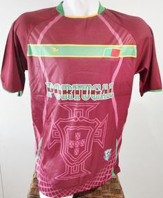 PORTUGAL SOCCER JERSEY T-SHIRT DRAKO FÚTBOL ONE SIZE L FOOTBALL FIFA WORLD CUP #Drako #soccershirts #soccerjerseys #fifaworldcup #football #soccer #worldcup2014 #portugal
