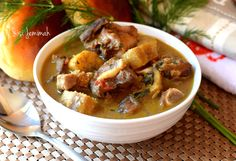 Goat meat and plantain pepper soup is simply a Nigerian style pepper soup dish made with unripe plantain and succulent goat meat..