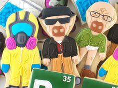 Breaking bad walt cookies.  Ain't nobody got time for that, but they look really cool!  :)