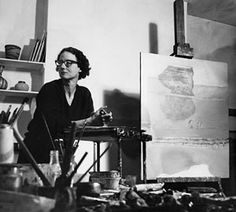 """Prunella Clough, British artist """"Painting is like throwing oneself into the sea to learn to swim"""" (Édouard Manet) - often quoted in interviews by Clough Urban Landscape, Landscape Art, Chelsea School Of Art, Art Studios, Artist At Work, Abstract Expressionism, Art Forms, Female Art, Printmaking"""