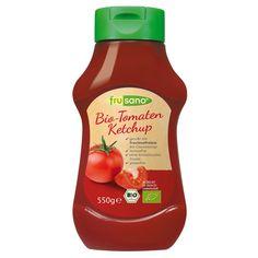 Leckerer, würziger Bio-Tomaten-Ketchup, nur mit fructosefreiem Glucosesirup gesüsst, ohne Kristallzucker-Zusatz.