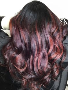 Red Highlights, Hair Ideas, Long Hair Styles, Beauty, Long Hairstyle, Long Haircuts, Long Hair Cuts, Beauty Illustration, Long Hairstyles
