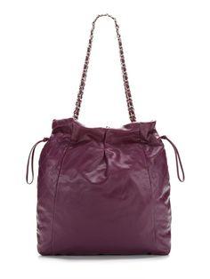 Chanel Limited Edition Purple Caviar 31 Drawstring Tote Bag