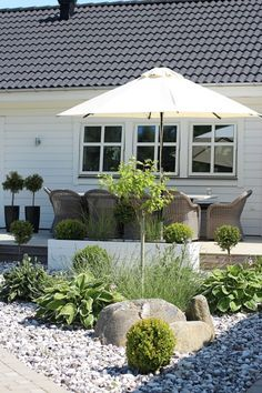 rabatt framsida hus Vinter i all ra, men jag mste - Backyard Furniture, Small Garden Design, Terrace Garden, Home And Deco, Back Gardens, Outdoor Areas, Dream Garden, Garden Planning, Backyard Landscaping