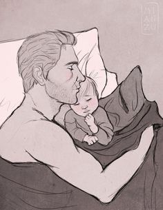 Nap by Annairuu... Okay so I'm a little obsessed with Cullen as a Papa...