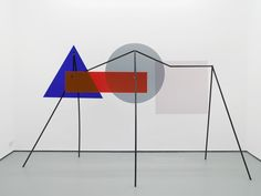 Amalia Pica: Memorial for intersections #5 2013 Colour coated steel and coloured perspex