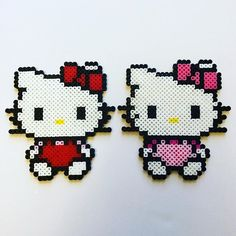 Hello Kitty perler beads by the_perlair