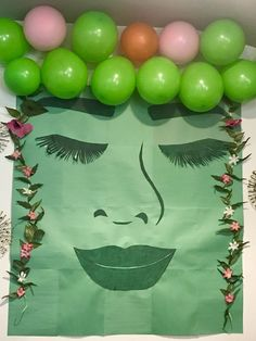 Te Fiti from Moana movie. Wall decoration for Moana birthday party theme for my daughter.
