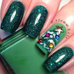 christmas by strawbrie #nail #nails #nailart  | See more nail designs at http://www.nailsss.com/nail-styles-2014/