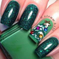 christmas by strawbrie #nail #nails #nailart  | See more nail designs at http://www.nailsss.com/nail-styles-2014/