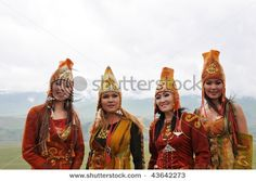 Kyrgyz girls in national costumes!