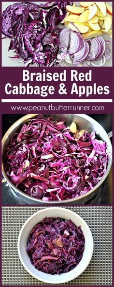 A recipe for braised red cabbage recipe. A delicious, slow-cooked mix of red cabbage, red onions, balsamic vinegar and apples.