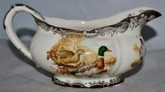 Royal Worcester PALISSY Game Series Gravy Boat in Mint Condition