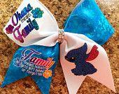 Ohana means family Lilo & Stitch inspired cheer bow - Modern Disney Cheer Bows, Cheerleading Hair Bows, Cute Cheer Bows, Big Bows, Lilo And Stitch Ohana, Lilo Stitch, Disney Hair, Cheer Outfits, Ohana Means Family