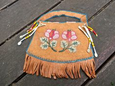 Vintage Native American Beaded Purse by cbsh on Etsy