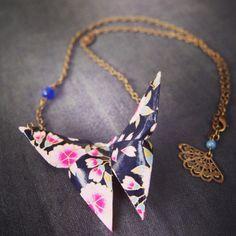 Sautoir en origami Sendrée