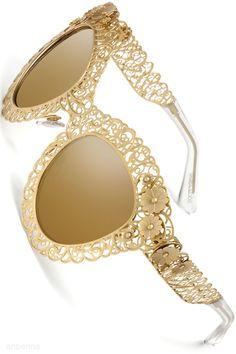 Dolce & Gabbana - gold-look sunglasses Dolce & Gabbana, Dolce And Gabbana Eyewear, Sunglasses Outlet, Oakley Sunglasses, Chanel Sunglasses, Sunglasses Online, Cheap Sunglasses, Sports Sunglasses, Bling Bling