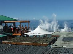 The Brass Bell, Kalk Bay, South Africa - have you ever enjoyed fish in a restaurant with the waves hitting against the wall - - On the finest all year round Nordic Walking Peninsula in the World The Beautiful Country, Beautiful Places, South Afrika, Cape Town South Africa, Wale, Brass Bell, Rest Of The World, Places To See, The Good Place