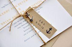 Nautical Charm Wedding Invitations / Rehearsal Dinner Invitations / Bridal Shower Invitations / Square / Nautical Wedding Invitations on Etsy, $50.00