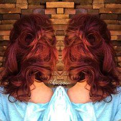 @kenraprofessional reds ❤️ #btconeshot_haircolor16 #btconeshot_thelook16 #btconeshot_transformations16 #btconeshot_texture16 #haircolor #stylistssupportingstylists #kenra #graycoverage #20volume #art #redhead #fierce @inspirehairstyles @braidsbunsandbeauty #behindthechair