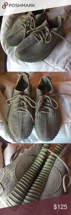 Yeezy Moonrock Bought from a consignment store for $300+ really thought they were authentic but now I don't know. Because I didn't buy them at the store I cannot guarantee authenticity, however they are still really good quality and barely worn. Only thing is that I took out the inserts so I could put in my own because I have terrible feet but now I can't find the inserts that they came with. However, you can put your own inserts in or even go with out them. They don't affect wearability at…