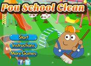 Pou School Clean