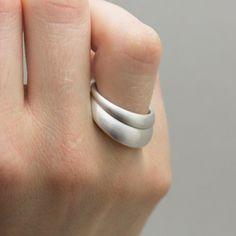 Ergonomiska ringar av KLARA ERIKSSON - Silver