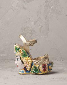 COMPENSÉE BLANCHE CALTAGIRONE - Sandales à talons - Dolce&Gabbana - Été 2014