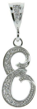 Goldia Sterling Silver CZ Initial L Pendant