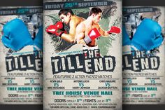 Boxing Flyer Template by Hotpin on @creativework247